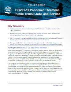 COVID-19 Pandemic Threatens Public Transit Jobs and Service
